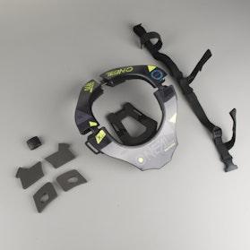 O'Neal Tron Assault Neck Protection Black-HiVis-Blue