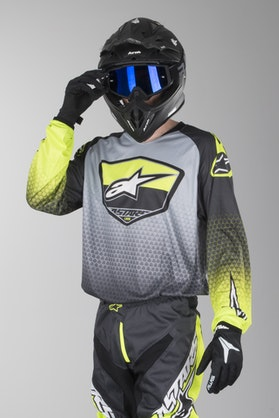 Bluza Cross Alpinestars Racer Supermatic Anthacite-Żółta Fluo-Szara