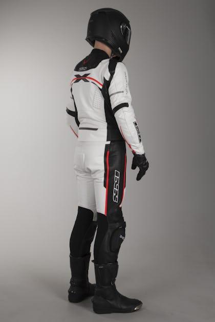 Kožená Kombinéza IXS Camaro Dvojdílná Bílá-Černá-Červená