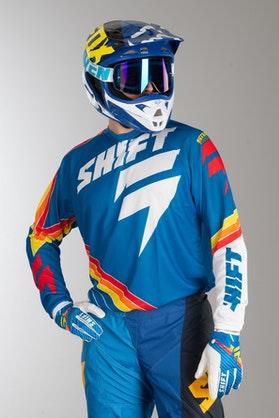Bluza Cross Shift Strike Stripes Niebieska MX 14
