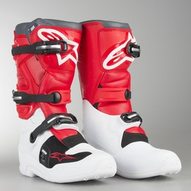 Alpinestars Tech 7 MX Boots White-Red-Grey