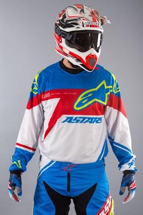 Bluza Alpinestars Racer Supermatic niebiesko-czerwono-biała