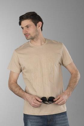 T-Shirt Axo Logo Beżowy