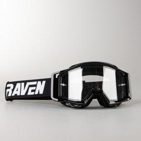 Gogle Cross Raven Sniper Podwójne Soczewki Crew Czarno-Przezroczyste