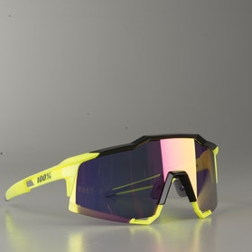 100% Speedcraft Bicycle Glasses Polished Black-HiVis