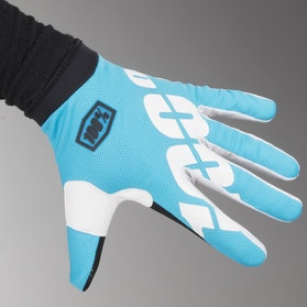 100% iTrack Gloves Cyan