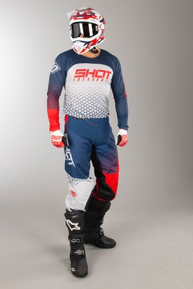 Shot Aerolite MX Jersey Blue-Red