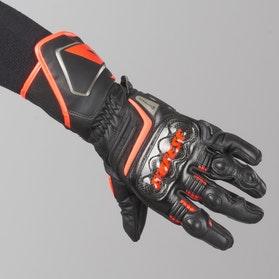 Rękawice Dainese Carbon D1 Długie Czarno-Czerwone