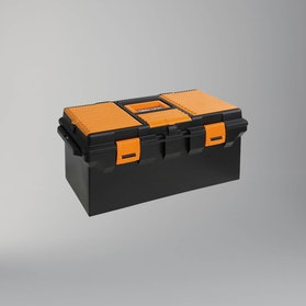 Beta Tools Long Plastic Tool Box with Movable Compartments