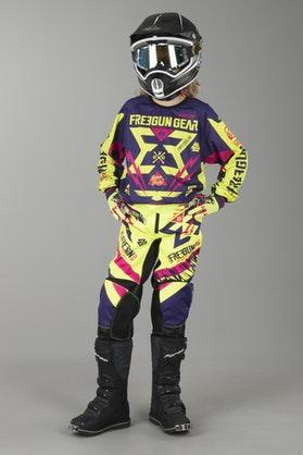 Crossové oblečení Freegun Trooper Dětské Žlutá-Magenta