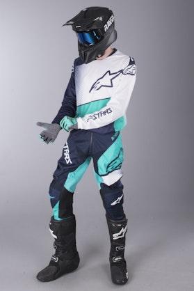 MX Oblečení Alpinestars Racer Supermatic Tmavě Modrá-Modrozelená