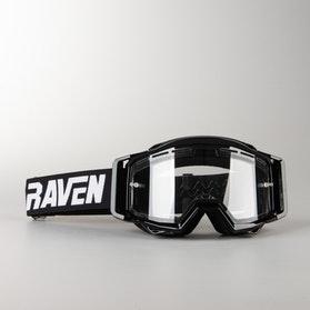 Gogle Cross Raven Sniper VentMax Podwójne Soczewki Crew Clear Czarno-Przezroczyste