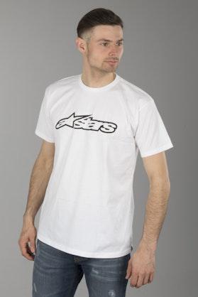 Alpinestars Blaze Classic T-Shirt White-Black