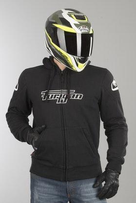 Bluza Motocyklowa z Kapturem Furygan Luxio Czarna