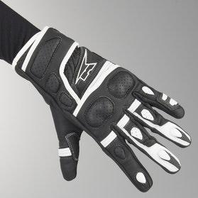Rukavice AXO Shield Černé-Bílé