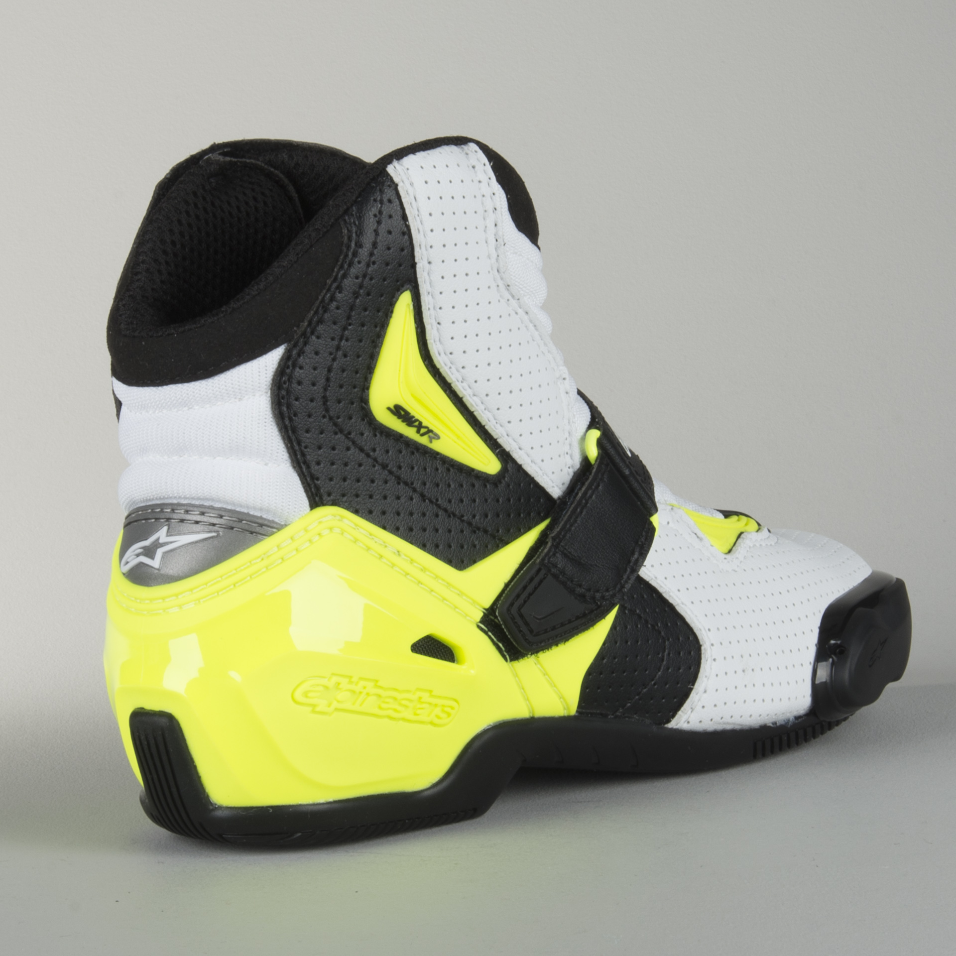 Alpinestars Motorcycle boots Smx-1 R Black White Yellow Fluo