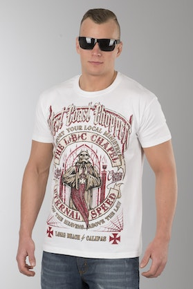T-Shirt West Coast Choppers The Chapel Solid Biały