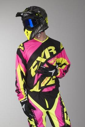 Bluza Cross FXR Clutch Czarno-Electric Różowa-Hivis
