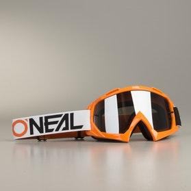 Gogle Cross O'Neal B-10 TwoFace Pomarańczowo-Czarno-Białe
