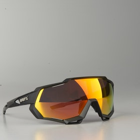 Speedtrap Soft Tact Black w/ HiPER Red Multilayer Mirror Glasses