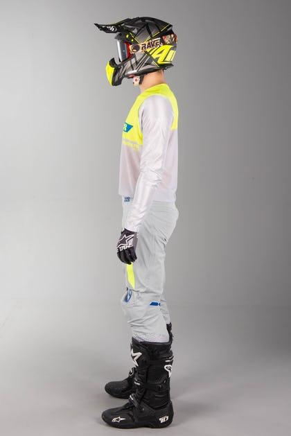 IXS Slim 19 MX Kit Grey-Fluo Yellow