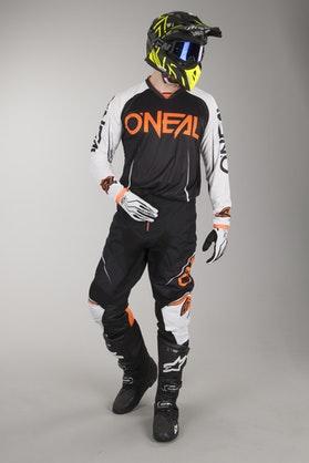 Crossové Oblečení O'Neal Mayhem Lite Blocker Černá-Bílá-Oranžová