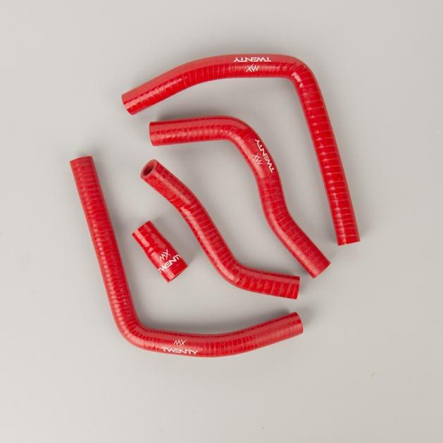 TWENTY Silicone Radiator Hose Kit Red
