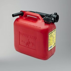 Never Stop AutoStop Petrol Can 5L Red
