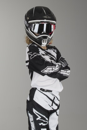 AXO SR Youth MX Jersey Black & White