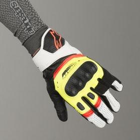 Rękawice Alpinestars SP-5 Czarno-Żółto-Biało-Czerwone