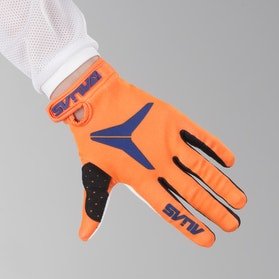 Alias AKA Solid Youth Motocross Gloves Neon Orange