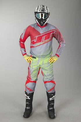 JT Racing Prime MX-Clothing Kit - Red-Yellow-Grey