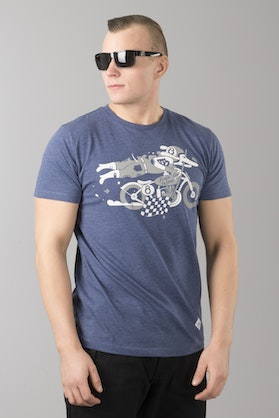 Ride&Sons Daredevil Heather T-Shirt Blue