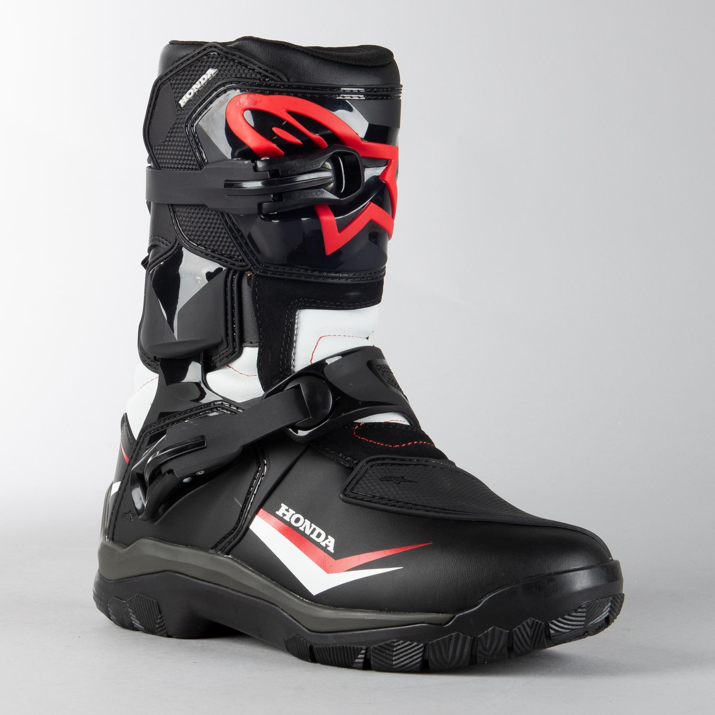 Alpinestars Belize Drystar Honda MC Shoes Black White Red