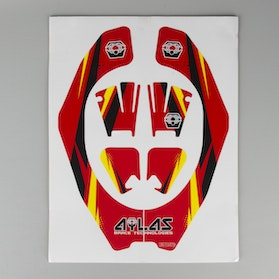 Atlas Original Neck Brace Decal Kit Red