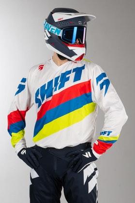 Bluza Cross Shift Whit3 Tarmac Biała MX 17