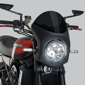 Owiewka Puig Retro Kawasaki Semi-Fairing Ciemna Przydymiona