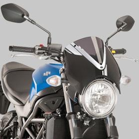 Owiewka Puig Retrovision Suzuki Czarna-Ciemna Przydymiona