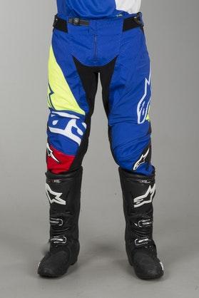 Alpinestars Techstar Factory Pants Blue-Red-White-Fluorescent Yellow