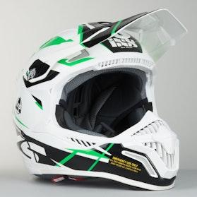 IXS HX 179 Flash Motocross Helmet White-Black-Green