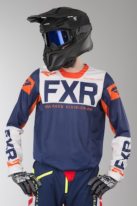 FXR Helium Air MX Jersey Marine Blue-White-Orange