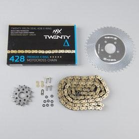Twenty Lightweight & Delta 428 MX  Chain & Sprocket Set