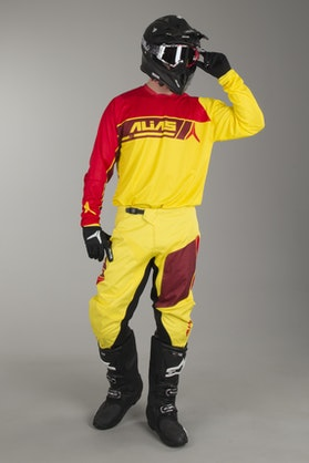 Crossové Oblečení Alias A2 Sidestacked Žlutá-Červená