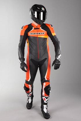 Kožená Kombinéza Spidi Race Warrior Perforovaná Černo-Oranžová