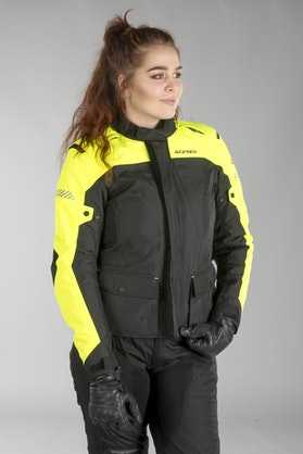 Acerbis Discovery Forest Women's Jacket Black-Fluo Yellow