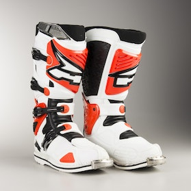 AXO A2 MX Boots White & Red