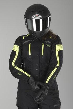 IXS Montgomery GTX Women's Jacket Black-Flou Yellow