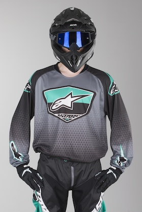 Bluza Cross Alpinestars Racer Supermatic Czarna-Szara-Teal