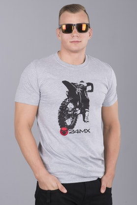 24MX Go Hard T-Shirt Grey