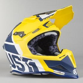Kask Cross Just1 J12 Unit Niebiesko-Żółty